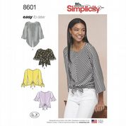 8601 Simplicity Pattern: Misses' Pullover Top with Sleeve Variations